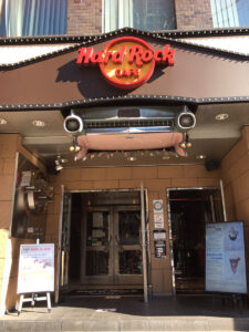 ハードロックカフェ大阪入口