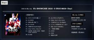 B'z SHOWCASE 2020 -5 ERAS 8820- Day1