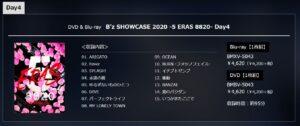 B'z SHOWCASE 2020 -5 ERAS 8820- Day4