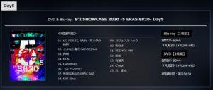 B'z SHOWCASE 2020 -5 ERAS 8820- Day5