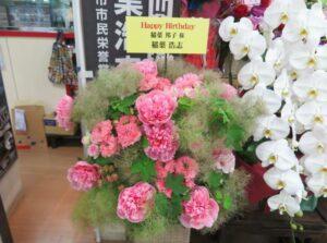 稲ママ誕生日にB'z稲葉さんの花束